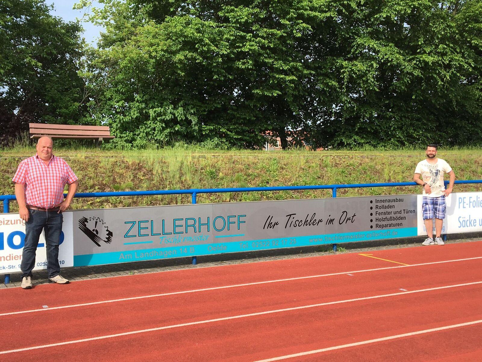 Spielvereinigung bedankt sich bei Zellerhoff und der Sparkasse