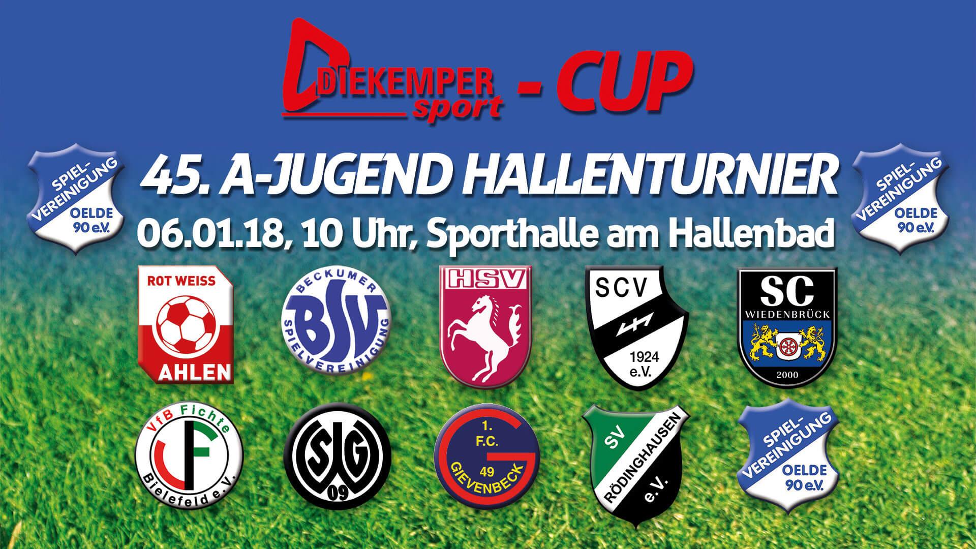 Diekemper Cup 2018 – 45. A-Jugend Hallenturnier